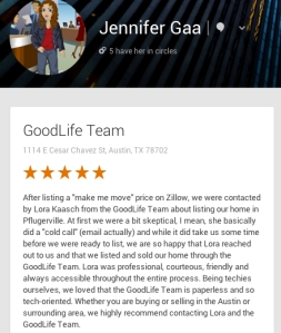 Jennifer Gaa Google Review - Testimonial